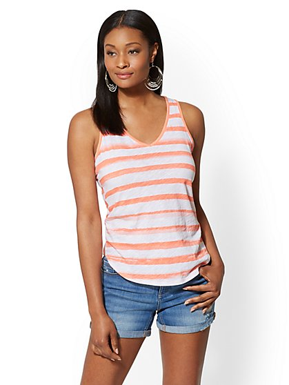 Hampton Striped Tank Top - New York & Company