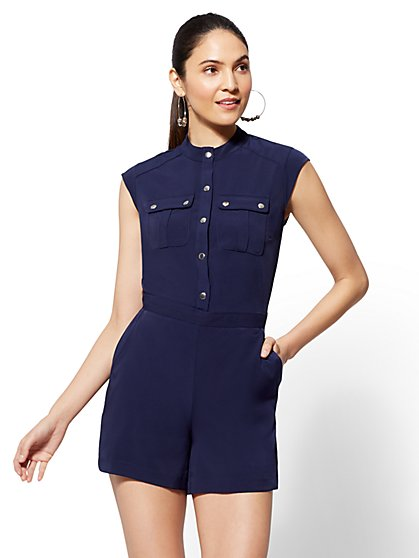 Hardware-Accent Romper - New York & Company