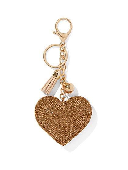 Heart & Tassel Keychain - New York & Company