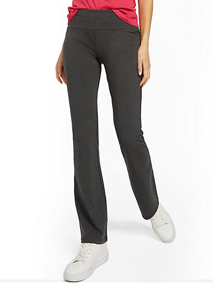 Heather Grey Bootcut Yoga Pant - New York & Company