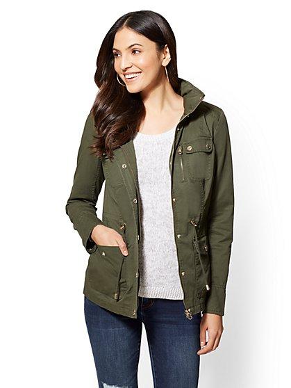 Hidden-Hood 4-Pocket Anorak Jacket - New York & Company