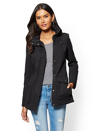 Hidden-Hood Anorak Jacket - New York & Company