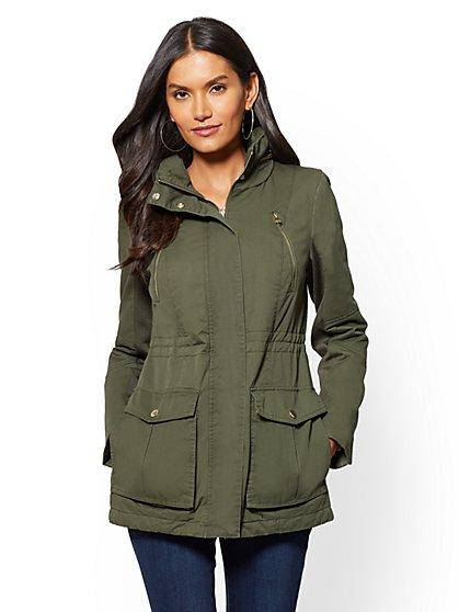 Hidden-Hood Anorak Jacket - New York & Company