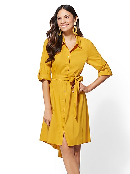 High-Low - Poplin Shirtdress - New York & Company