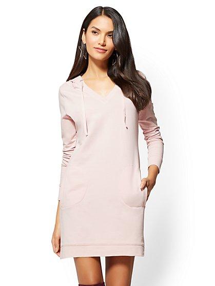 Hoodie Sweatshirt Dress - New York & Company