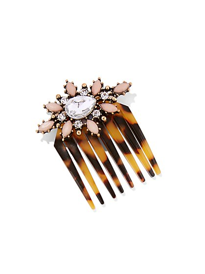 Jeweled Faux-Tortoise Hair Comb - New York & Company