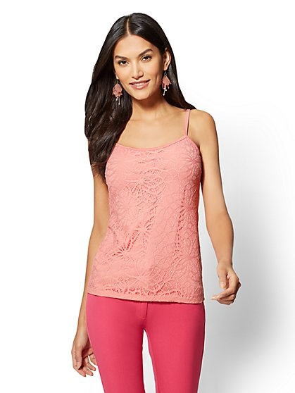 Lace-Overlay Camisole - New York & Company
