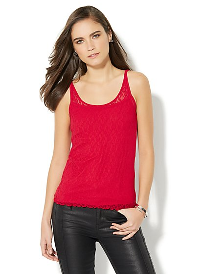 Lace Tank Top - New York & Company