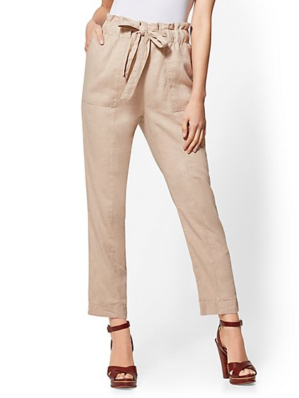 Linen Tie-Front Pant - New York & Company