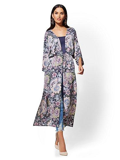 Long Kimono Jacket - Print - New York & Company