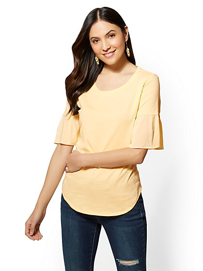 Manhattan Tee - Flounced Sleeve - New York & Company