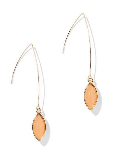 Marquise-Cut Faux-Stone Drop Earring - New York & Company