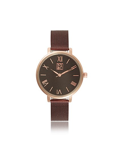 Mesh Roman Numeral Watch - New York & Company