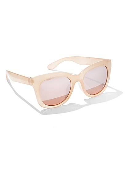 Mirrored Cat-Eye Sunglasses - New York & Company