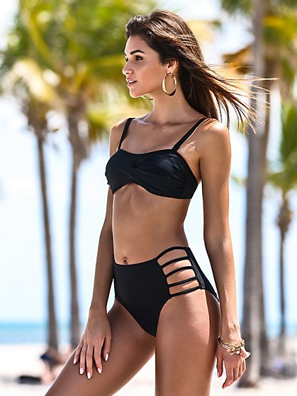 NY&C Swimwear - High-Waist Bikini Bottom - New York & Company