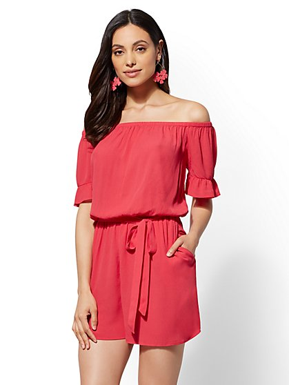 Off-The-Shoulder Romper - New York & Company
