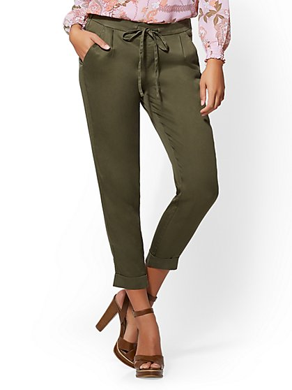 Olive Soft Ankle Pant - New York & Company
