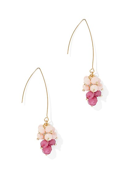 Ombre Faceted Bead Drop Earring - New York & Company