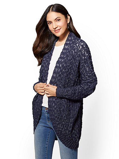 Open-Stitch Cardigan - New York & Company