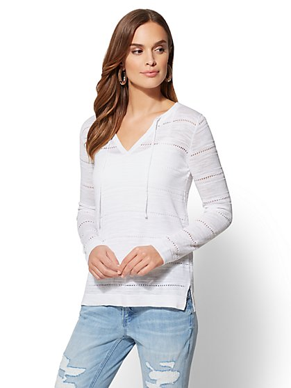 Open-Stitch Sweater - New York & Company