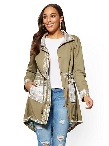 Painted Anorak Jacket - New York & Company