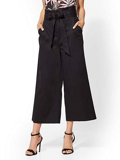 Paperbag-Waist Culotte Pant - New York & Company