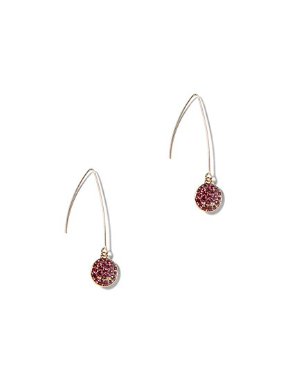Pave Accent Drop Earring - New York & Company