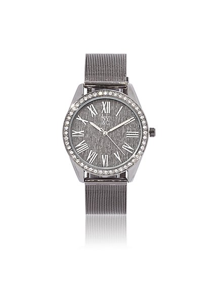 Pave Roman Numeral Watch - New York & Company