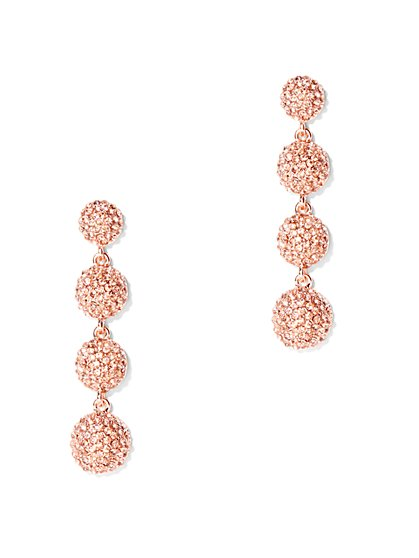 Pave Spherical Drop Earring - New York & Company