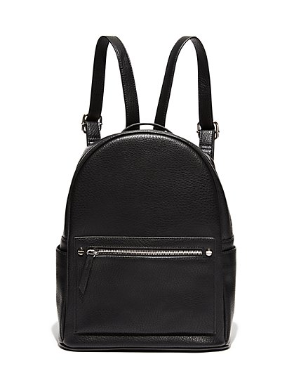 Pebblegrain Faux-Leather Backpack - New York & Company