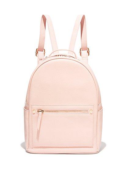 Pebblegrain Faux-Leather Backpack - New York & Company
