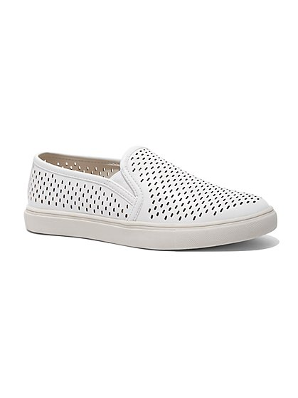 Perforated Slip-On Sneaker - New York & Company