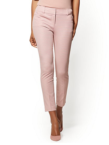 Petite Audrey Ankle Pant - Rose - Dot Print - New York & Company