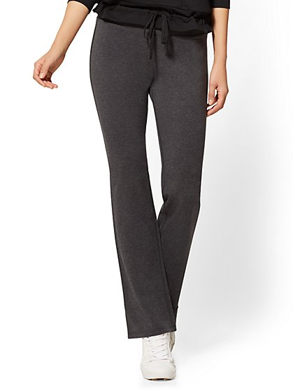 Petite Grey Bootcut Yoga Pant - New York & Company