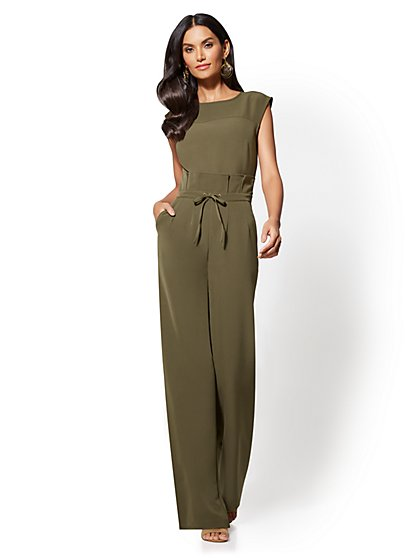 Petite Paperbag-Waist Jumpsuit - New York & Company