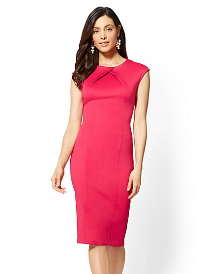 Petite Pleated Sheath Dress - New York & Company