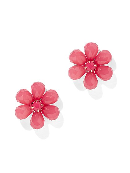 Pink Floral Post Earring - New York & Company