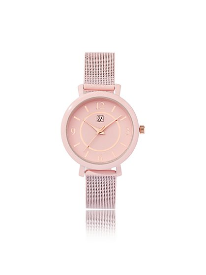 Pink Mesh Watch - New York & Company