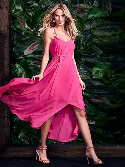 Pink V-Neck Maxi Dress - New York & Company