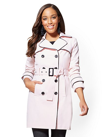 Piped Trench Coat - New York & Company