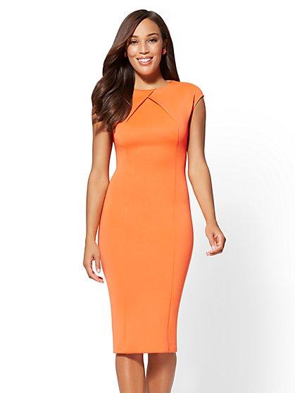 Pleated Sheath Dress - New York & Company
