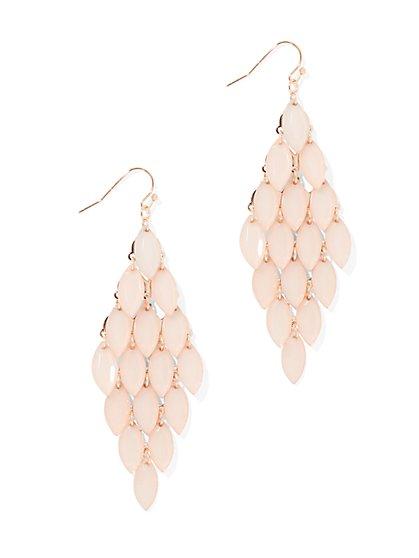 Polished Faux-Stone Drop Earring - New York & Company