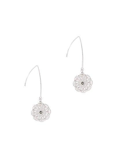 Polished Filigree Drop Earring - New York & Company
