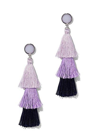 Purple Tassel Drop Earring - New York & Company