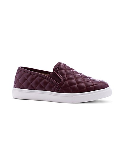 Quilted Slip-On Sneaker - Black - New York & Company