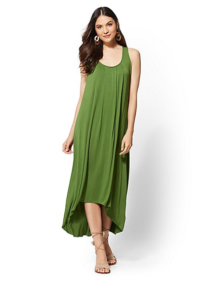 Racerback Hi-Lo Maxi Dress - New York & Company