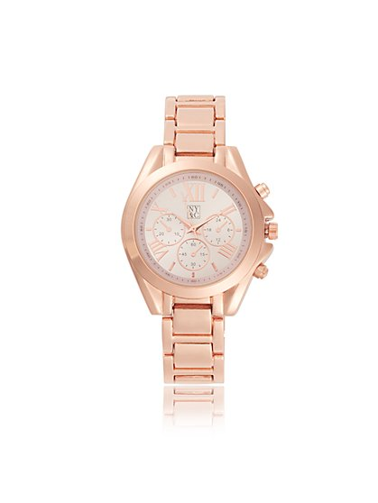 Rose Goldtone Link Watch - New York & Company