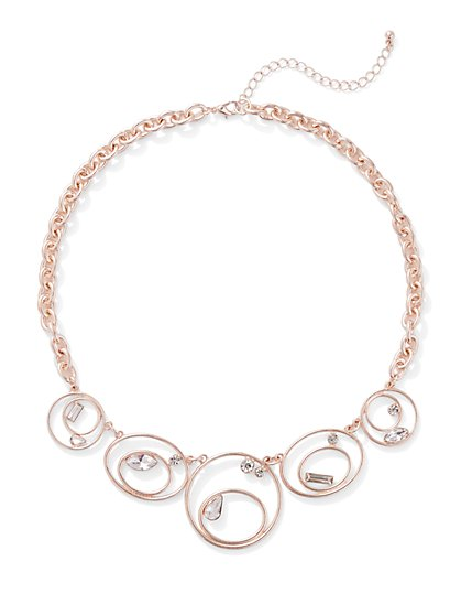 Rose Goldtone Twist Pendant Necklace - New York & Company