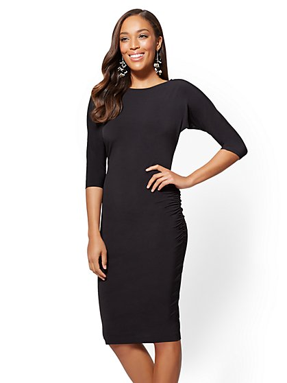 Ruched Sheath Dress - New York & Company