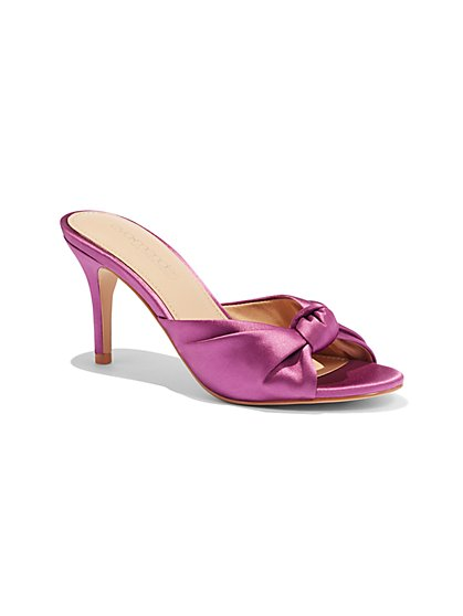 Satin-Knot Sandal - New York & Company